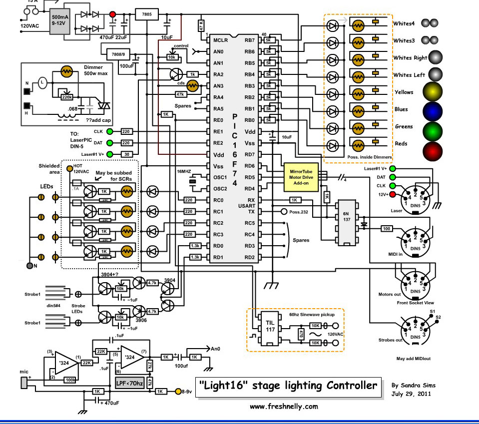 Stage Lighting Circuit Diagram - DIY Enthusiasts Wiring Diagrams •